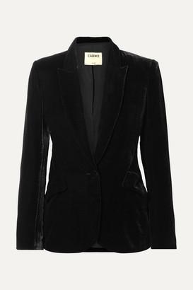 L'Agence Chamberlain Velvet Blazer - Black