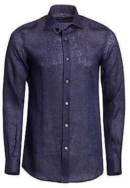 Ermenegildo Zegna Men's Lightweight Linen Shirt