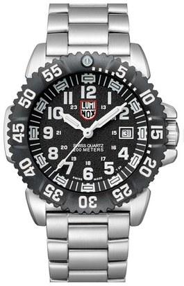 Men's Luminox 'Sea - Steel Colormark' Bracelet Watch, 44Mm $575 thestylecure.com