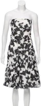 Thakoon Strapless Jacquard Dress