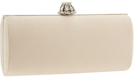 Nordstrom Jeweled Clasp Silk Frame Clutch