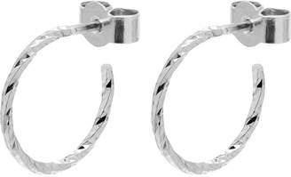 Myia Bonner Silver Mini Diamond Hoop Earrings