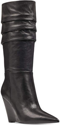 Nine West Vernese Slouch Wedge Boots Women's Shoes