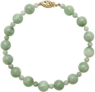 FINE JEWELRY Green Jade 14K Yellow Gold Bracelet