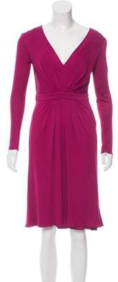 Philosophy di Alberta Ferretti Long Sleeve Knee-Length Dress