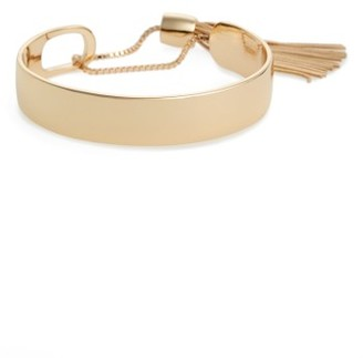 Women's Halogen Snake Tassel Pull Through Cuff $45 thestylecure.com
