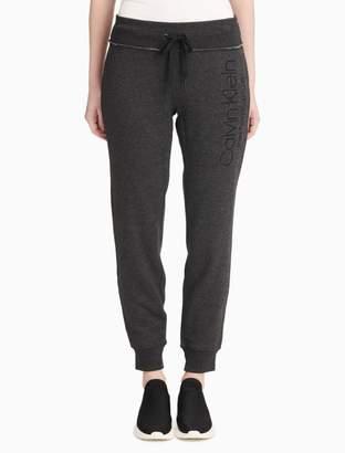 Calvin Klein logo fleece jogger sweatpants