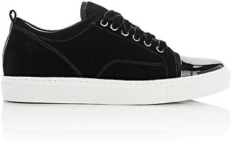 Lanvin Women's Cap-Toe Sneakers $570 thestylecure.com