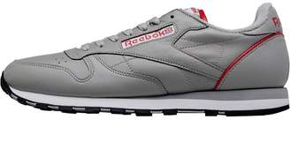 827e5a4e73334 Reebok Classics Mens Leather Archive Trainers Light Solid Grey White Power  Red Black