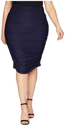 Kiyonna Helena Ruched Skirt Women's Skirt