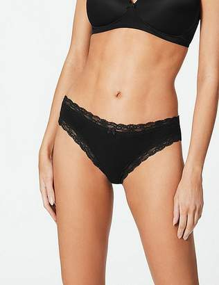 Marks and Spencer Cotton Rich Lace Trim Bikini Knickers