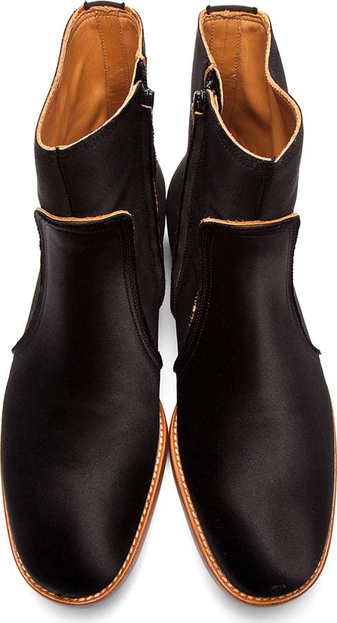 Maison Martin Margiela Black Classic Satin Boots