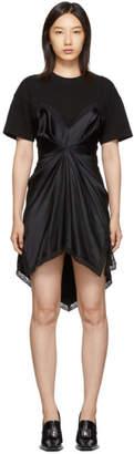 Alexander Wang Black Cinched T-Shirt Slip Dress