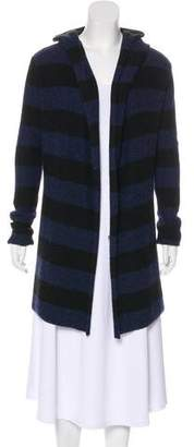 Vince Hooded Open Front Cardigan