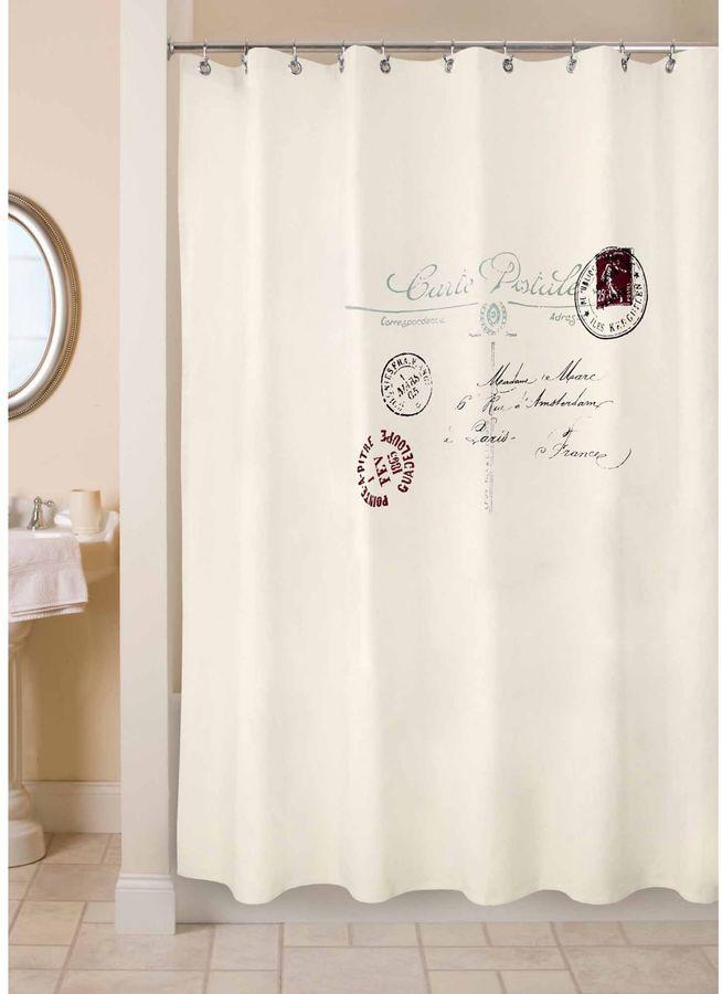 Park B. Smith Postale 72-Inch x 72-Inch Shower Curtain