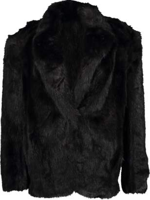 Alexander Wang Single Breasted Faux Fur Jacket