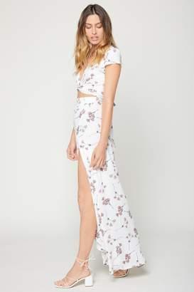 Flynn Skye Wrap It Up Skirt - White Cherry Blossom