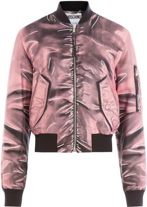 Moschino Printed Bomber Jacket