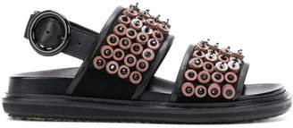 Marni button embellished sandals