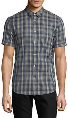 John Varvatos Plaid Cotton Sport Shirt