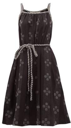 Ace&Jig Noelle Belted Waist Cotton Dress - Womens - Black White