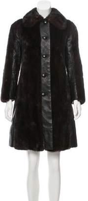 Revillon Vintage Mink Leather Coat
