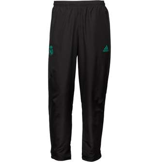 adidas Mens RMCF Real Madrid Woven Pants Black/Solid Grey
