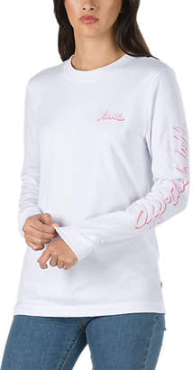 Scripter Long Sleeve Boyfriend T Shirt