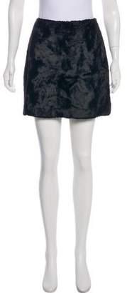 Philosophy di Alberta Ferretti Faux Fur Mini Skirt