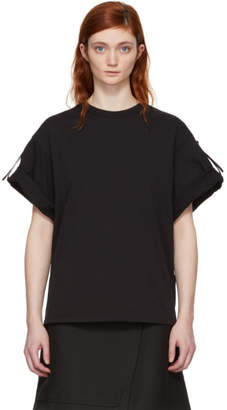 3.1 Phillip Lim Black Oversized Tie T-Shirt