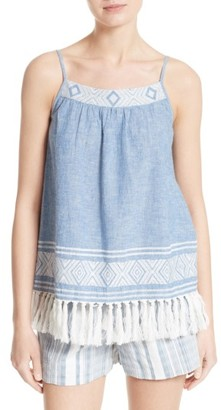 Women's Soft Joie Agneza Embroidered Chambray Camisole $158 thestylecure.com