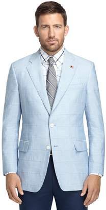 Brooks Brothers Regent Fit Blue Chambray Patch Sport Coat