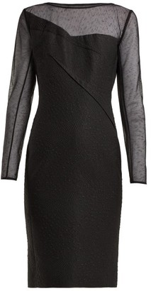 Roland Mouret Magnolia Silk Blend Jacquard Dress - Womens - Black