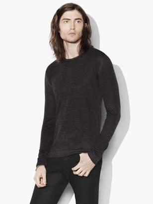 John Varvatos Silk-Cashmere Crewneck Sweater