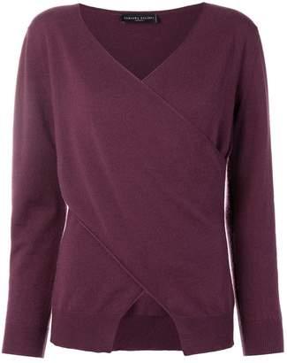 Fabiana Filippi wrap-front cashmere sweater