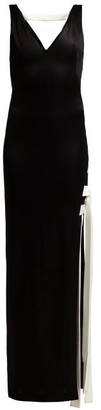 Galvan - High Shine Laced Dress - Womens - Black White