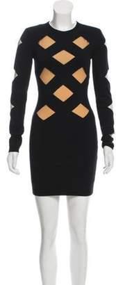Balmain Structured Cutout Dress Black Structured Cutout Dress