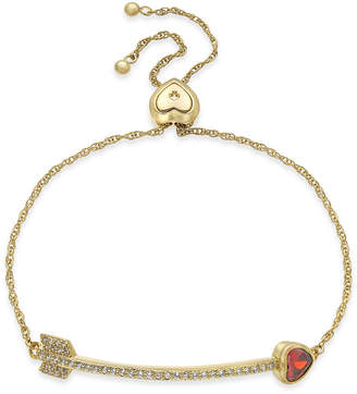 Kate Spade Crystal Heart Arrow Slider Bracelet