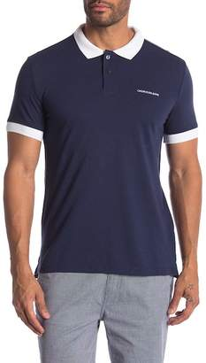 Calvin Klein Jeans Colorblock Short Sleeve Polo