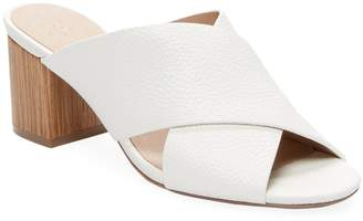 ALEX+ALEX Women's Criss-Cross Leather Mid-Heel Sandal