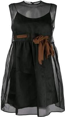 Miu Miu see-through sleeveless flared dress