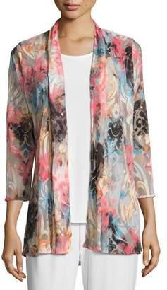 Caroline Rose Pink Sky Burnout Cardigan $215 thestylecure.com