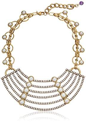 m. haskell Purple by Garden Party Faux- Multi-Row Statement Necklace