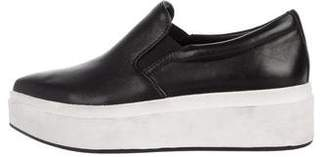DKNY Leather Pointed-Tone Slip-On Sneakers