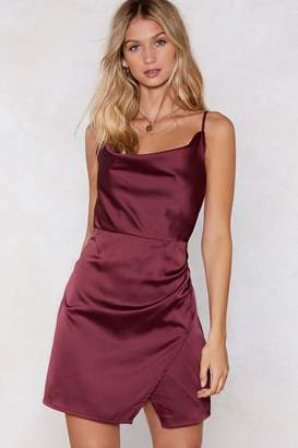 Nasty Gal Cowl About Mini Dress