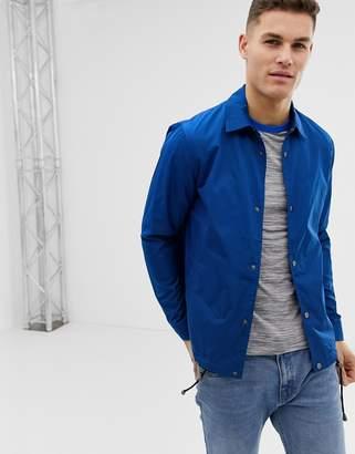 Asos DESIGN Coach Jacket In Cobalt Blue