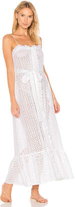 Lisa Marie Fernandez Button Down Ruffle Slip Dress in White $785 thestylecure.com