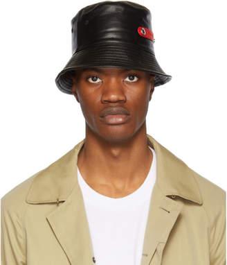 Alexander McQueen Black Lambskin Bucket Hat