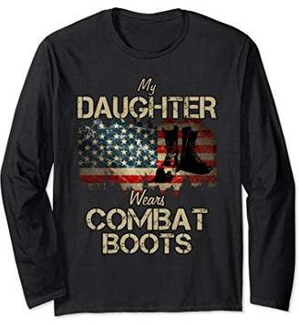 Combat Boots Daughter Military Long Sleeve Tshirt