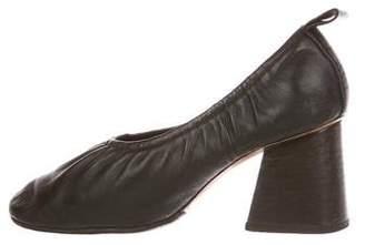 Celine Leather Round-Toe Pumps